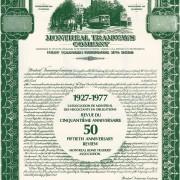 Revue publiée lors du 50e anniversaire du Montreal Bond Traders Association en 1977. Archives personnelles de M. Jean-Louis-Tassé, ex-président de l'association.